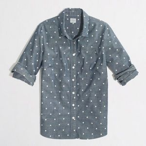 J. Crew Factory 'The Perfect Shirt' in Dots | EUC